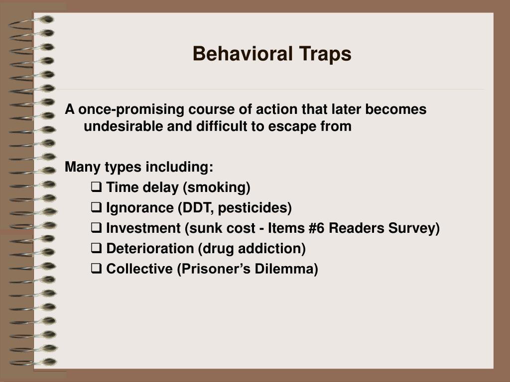 Behavioral Traps