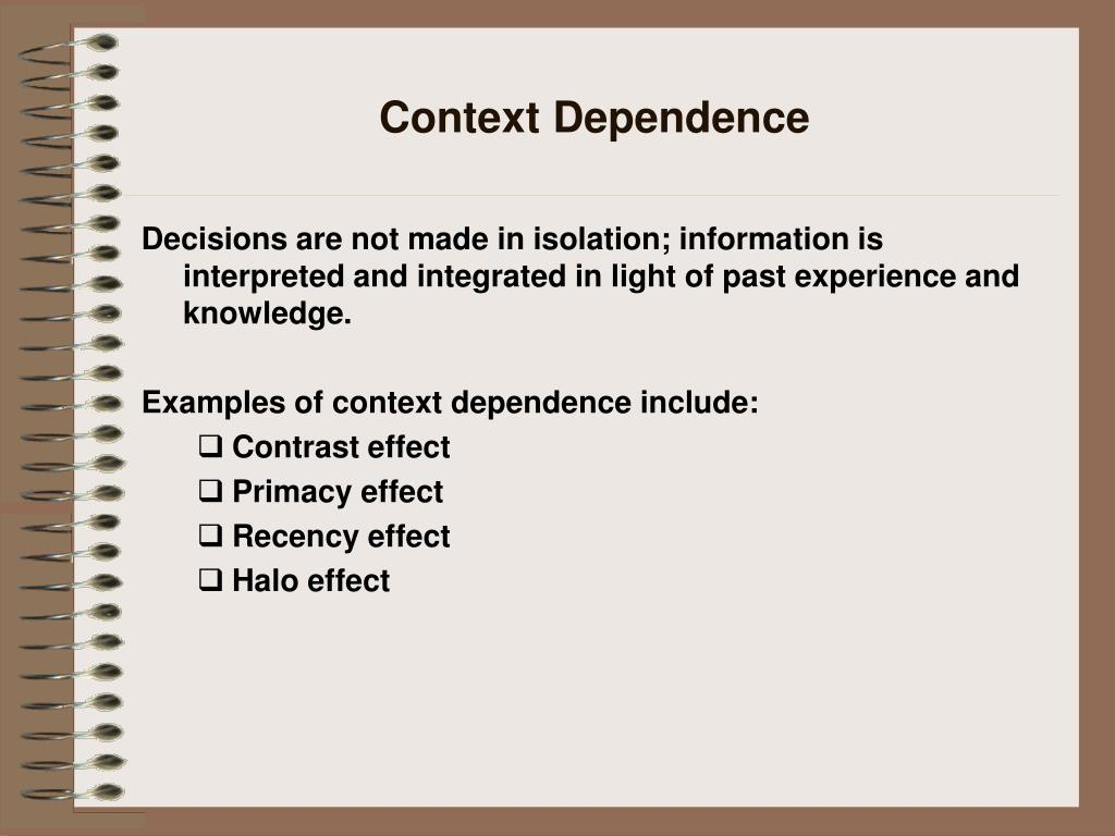 Context Dependence