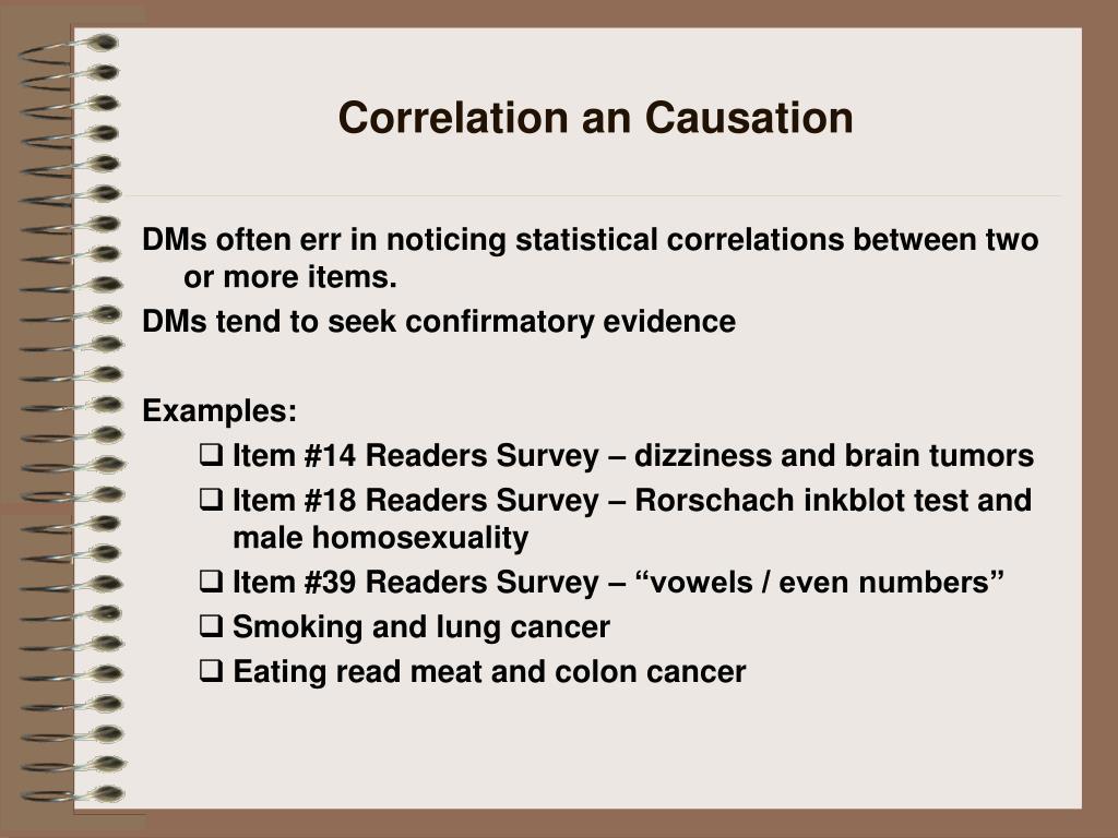 Correlation an Causation