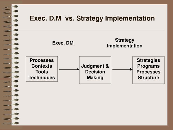 Exec d m vs strategy implementation