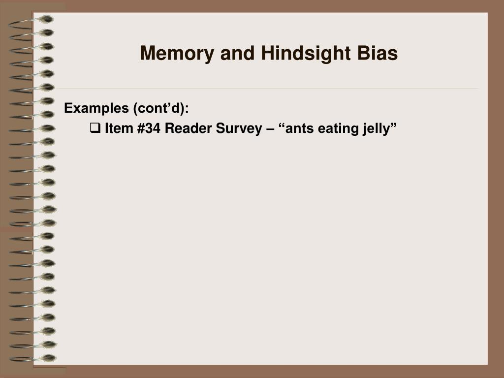 Memory and Hindsight Bias