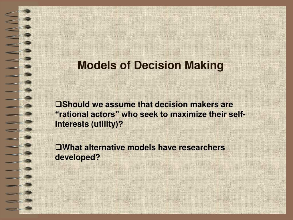 Models of Decision Making