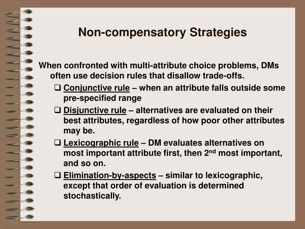 Non-compensatory Strategies