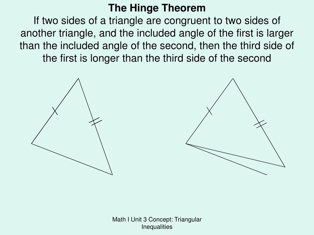 The Hinge Theorem