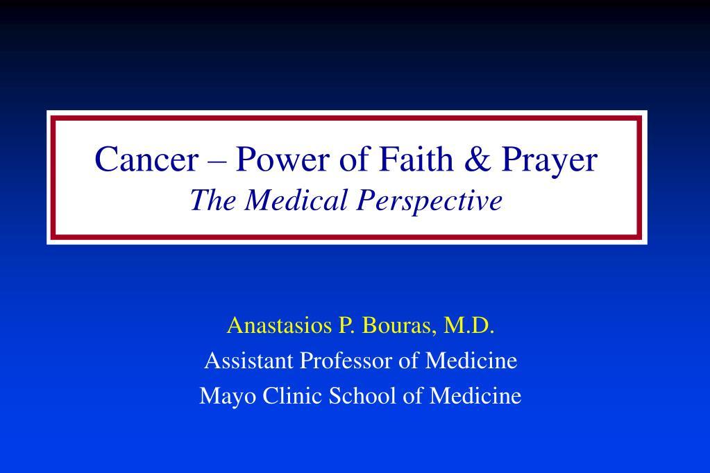 Cancer – Power of Faith & Prayer