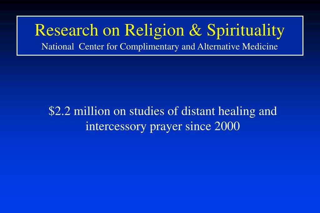 Research on Religion & Spirituality
