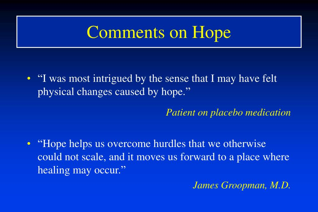 Comments on Hope
