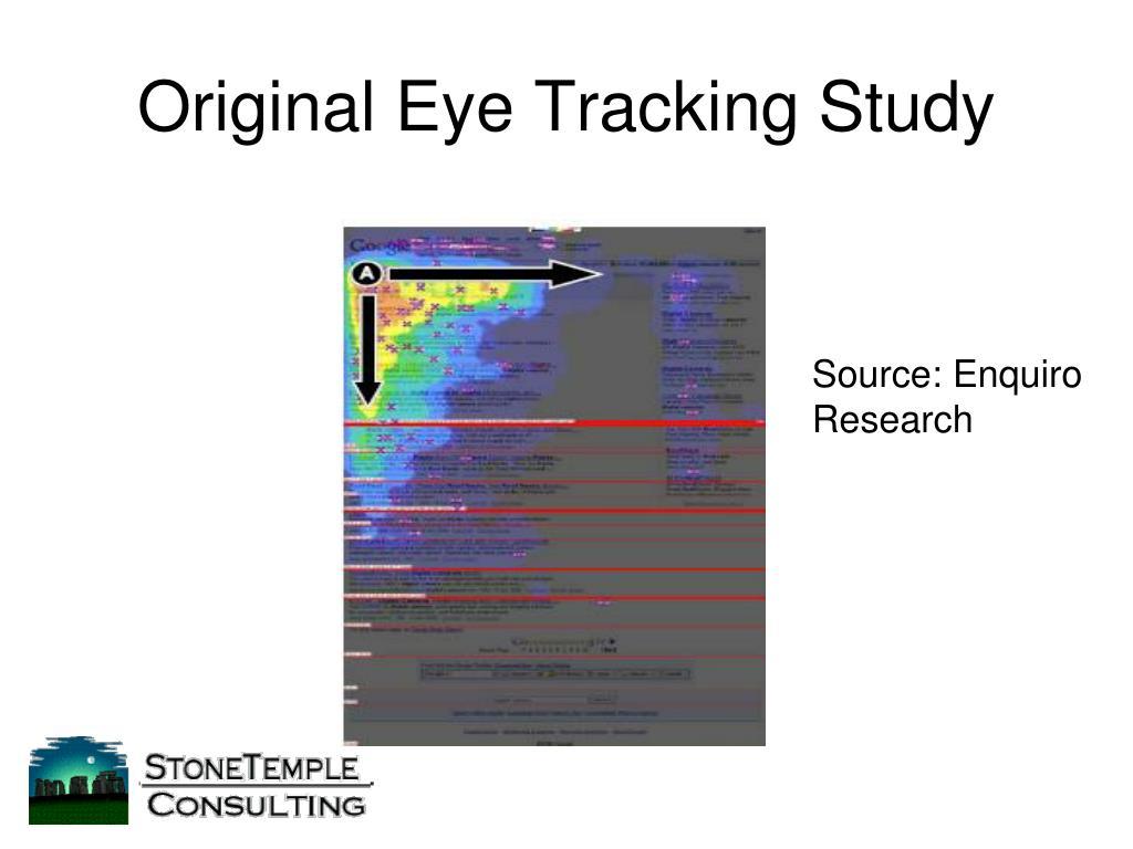 Original Eye Tracking Study