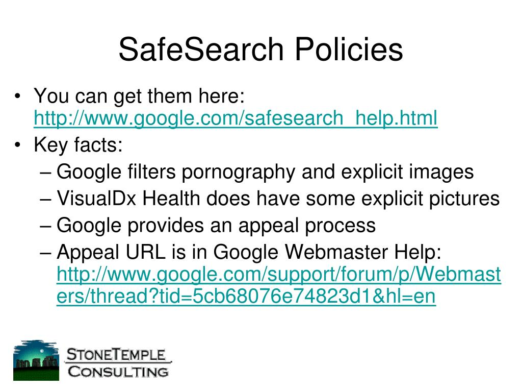SafeSearch Policies