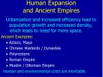 human expansion and ancient empires