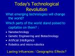today s technological revolution