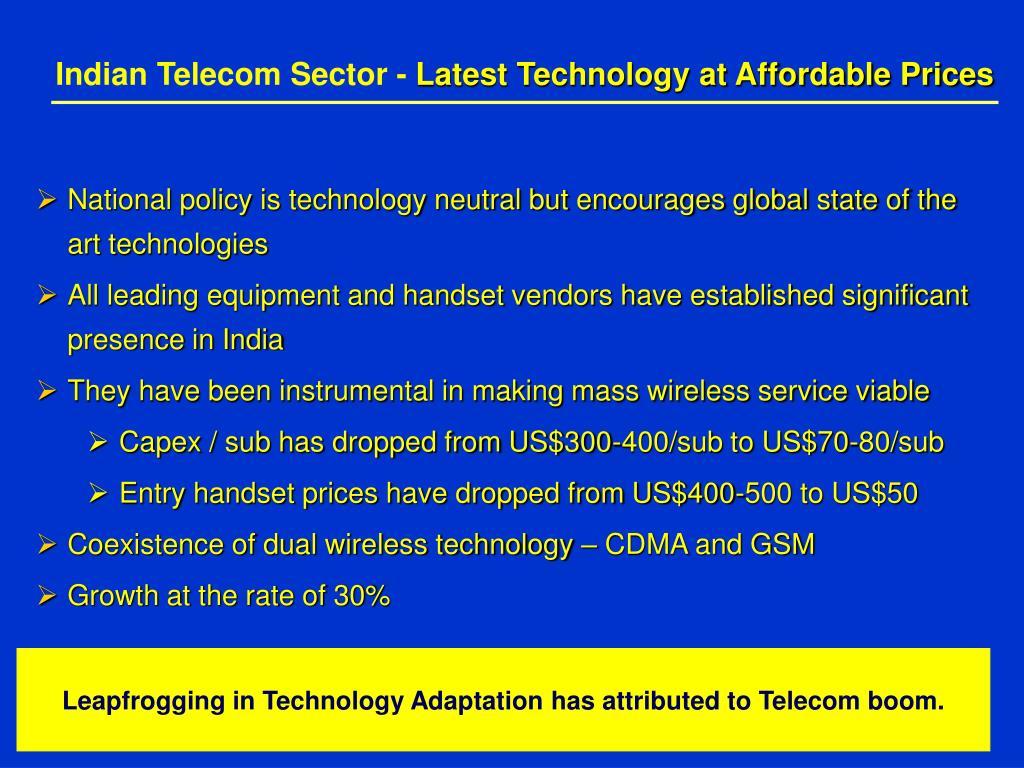 Indian Telecom Sector -