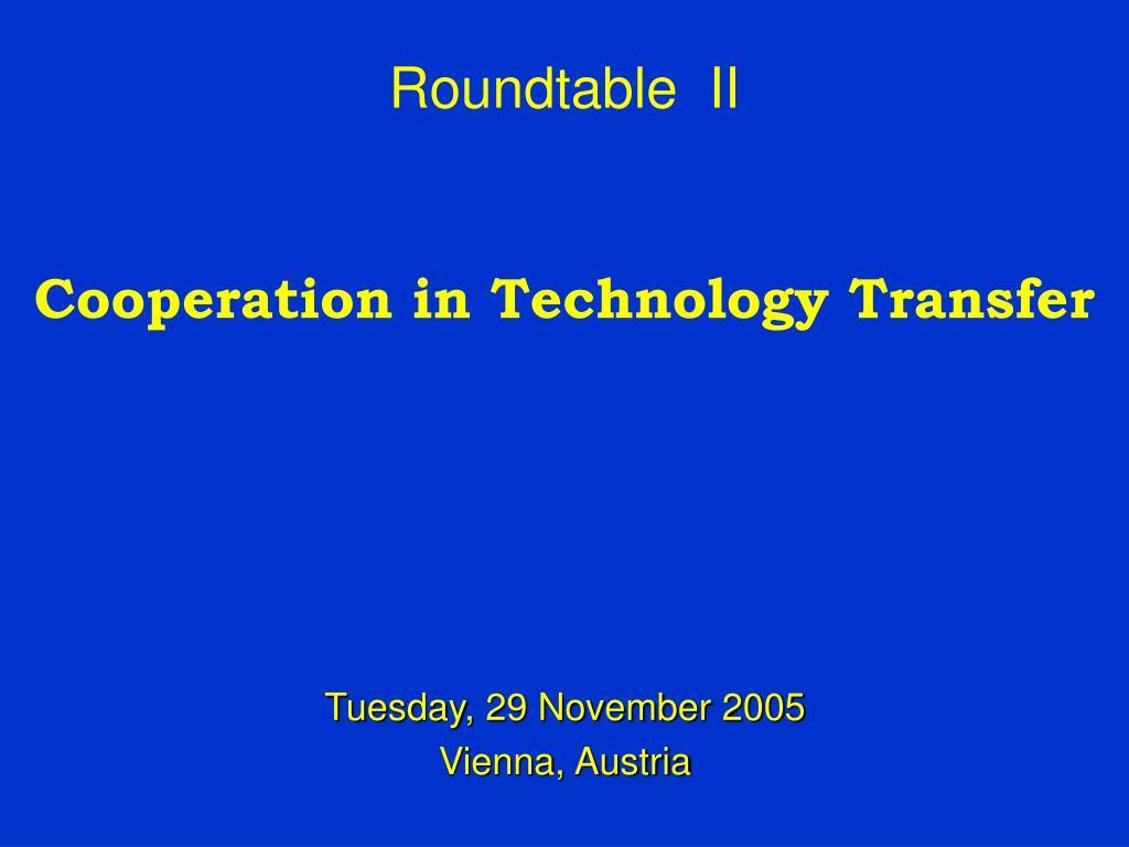 Roundtable  II