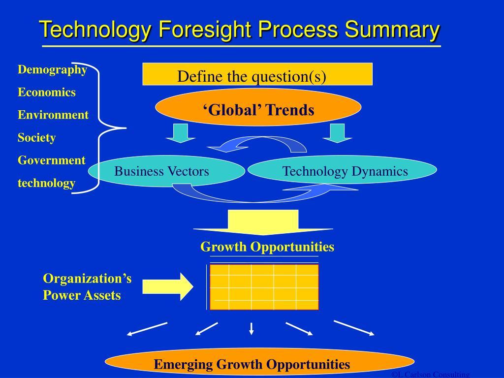 Technology Foresight Process Summary