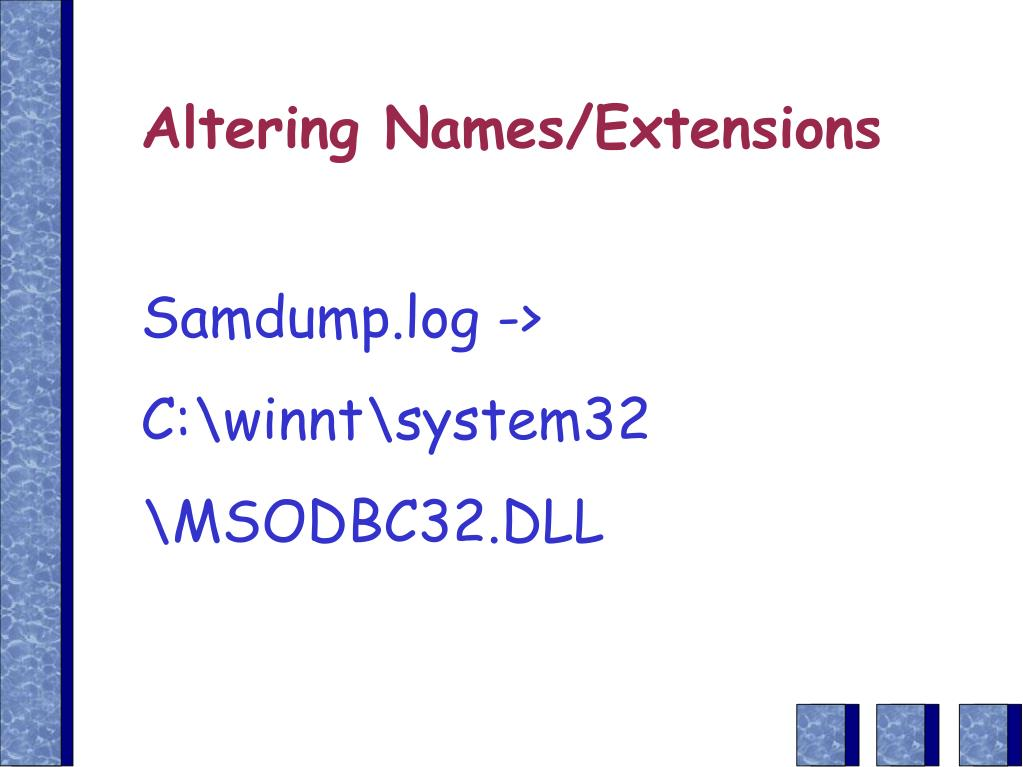 Altering Names/Extensions