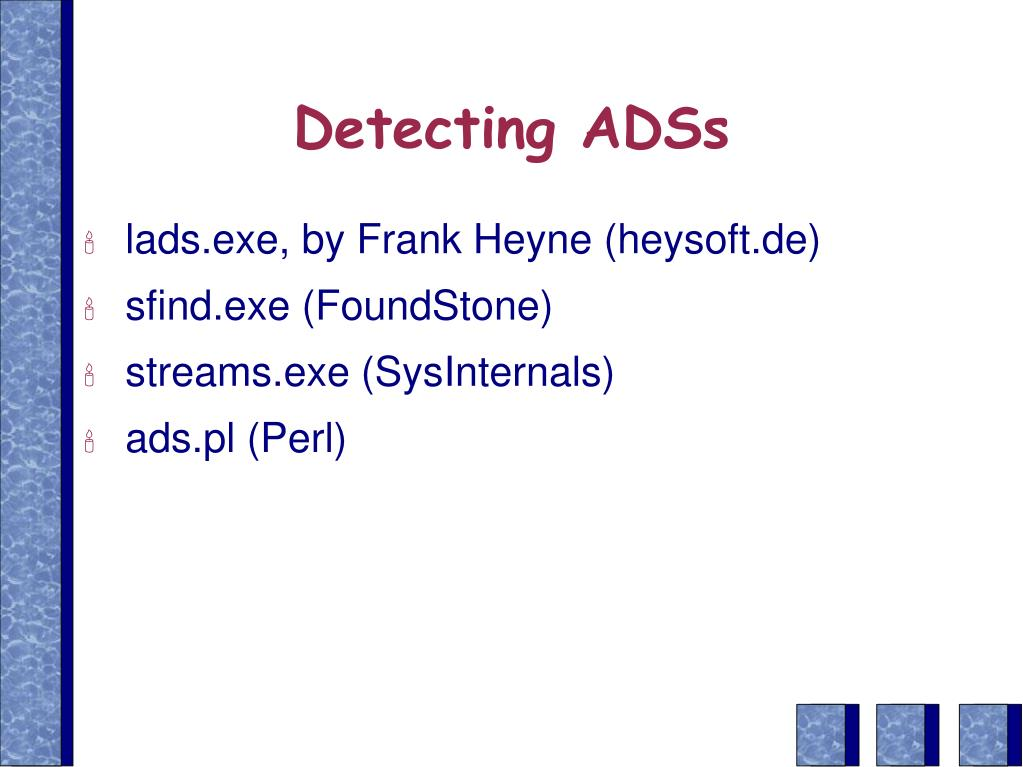 Detecting ADSs