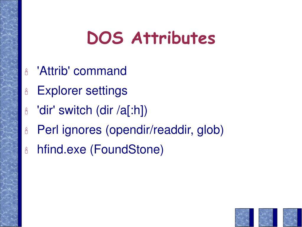 DOS Attributes