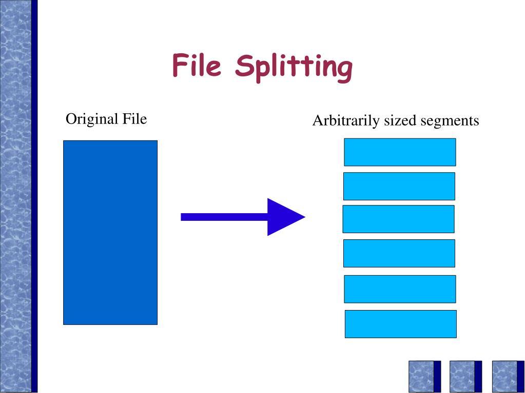 File Splitting