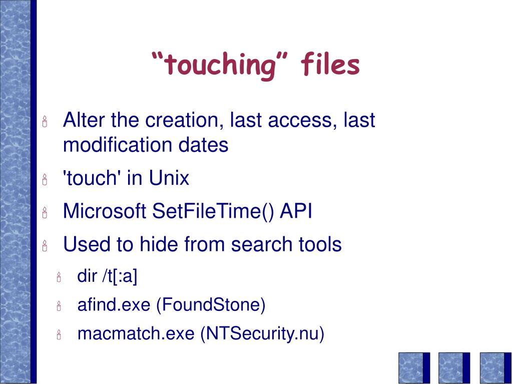 """touching"" files"