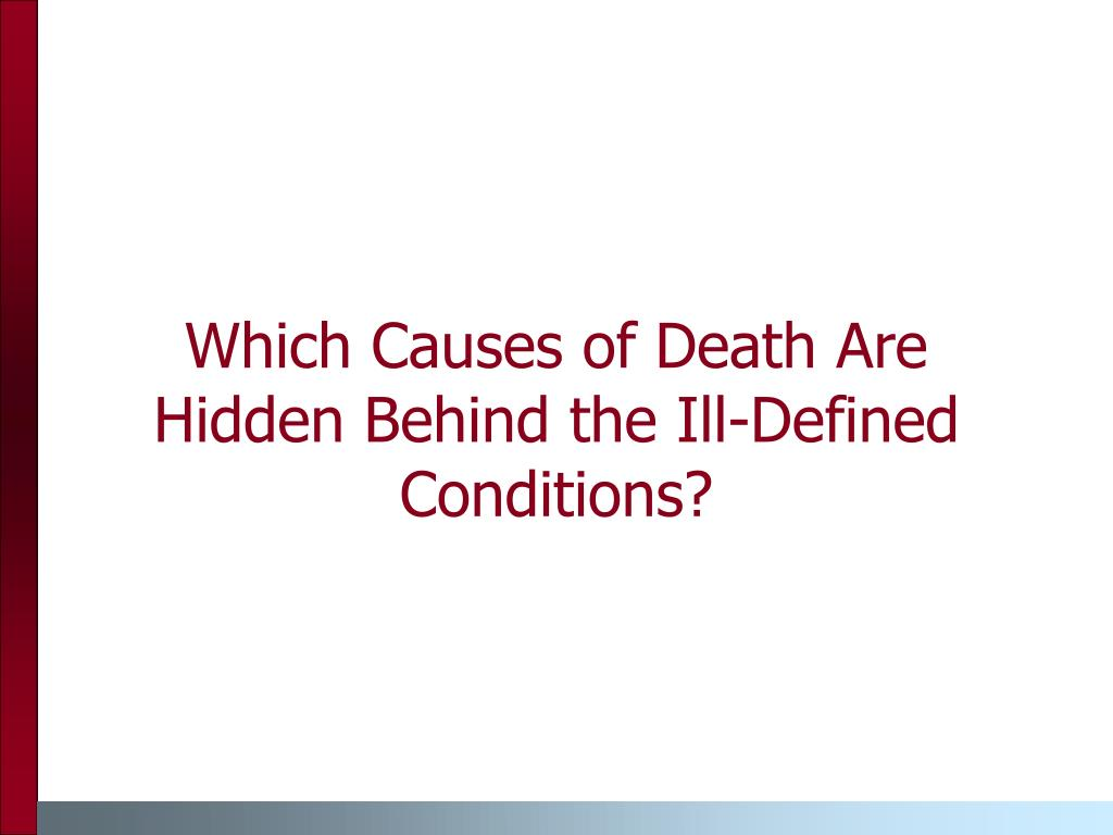Which Causes of Death Are Hidden Behind the Ill-Defined Conditions?