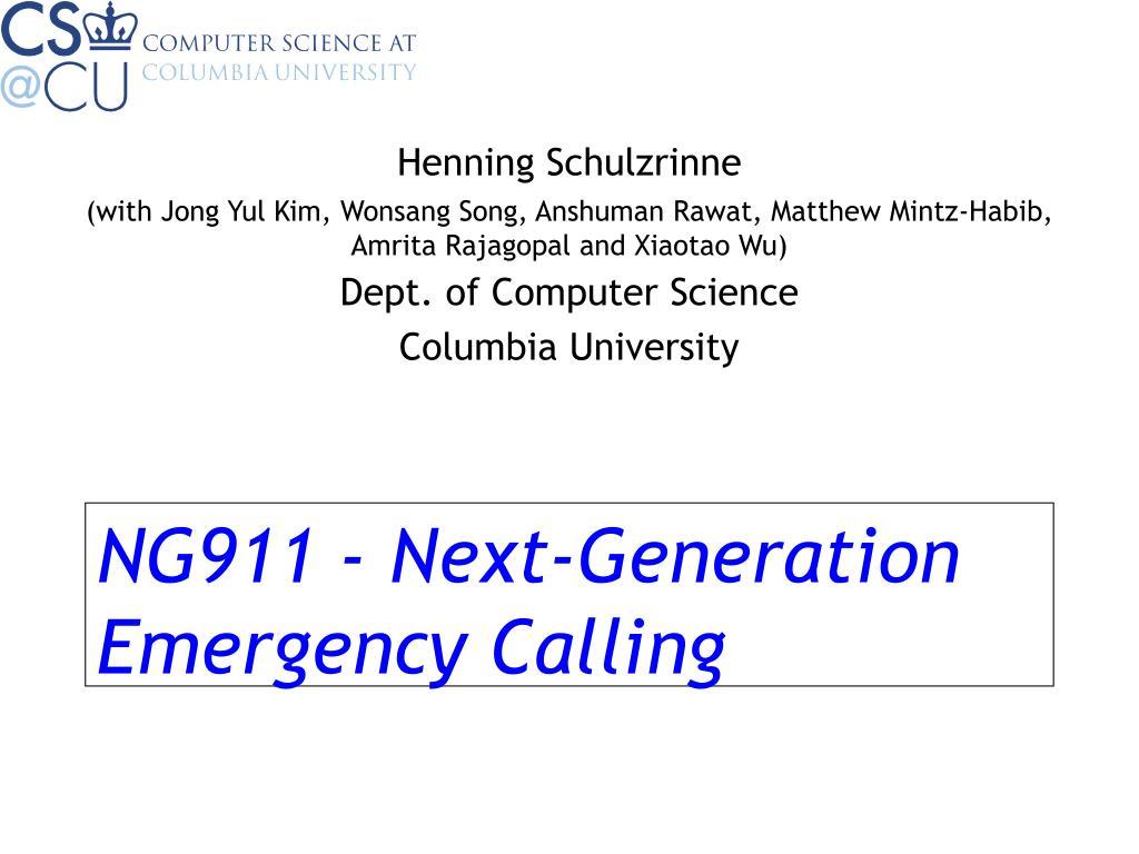 NG911 - Next-Generation Emergency Calling