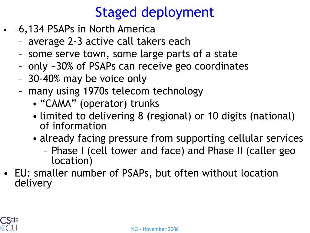Staged deployment