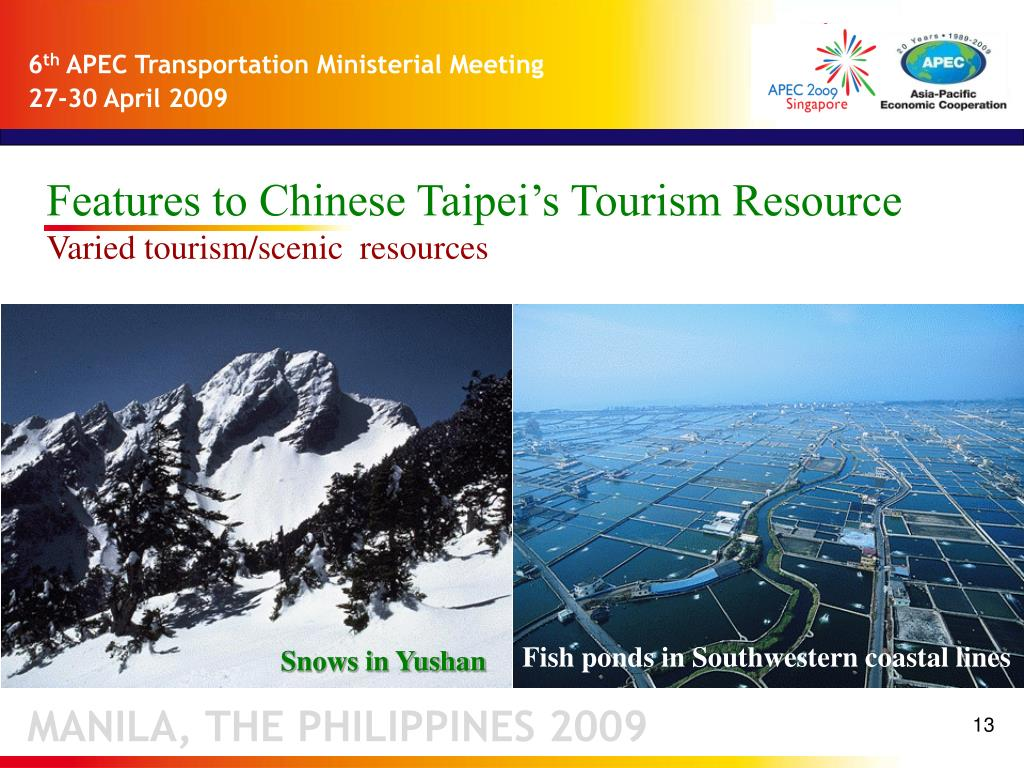 Features to Chinese Taipei's Tourism Resource