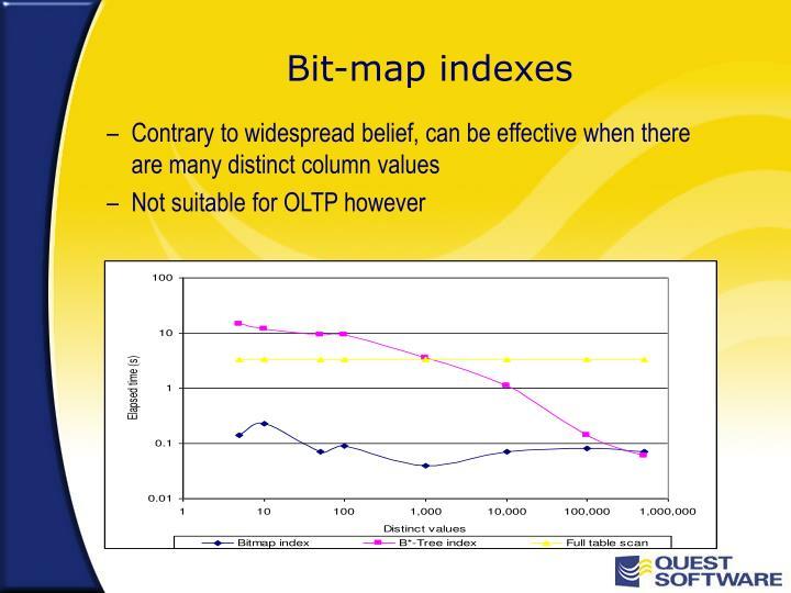 Bit-map indexes