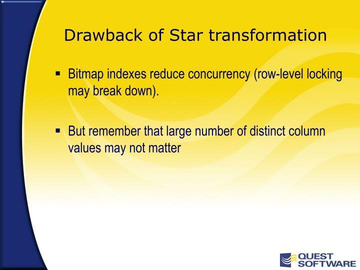 Drawback of Star transformation