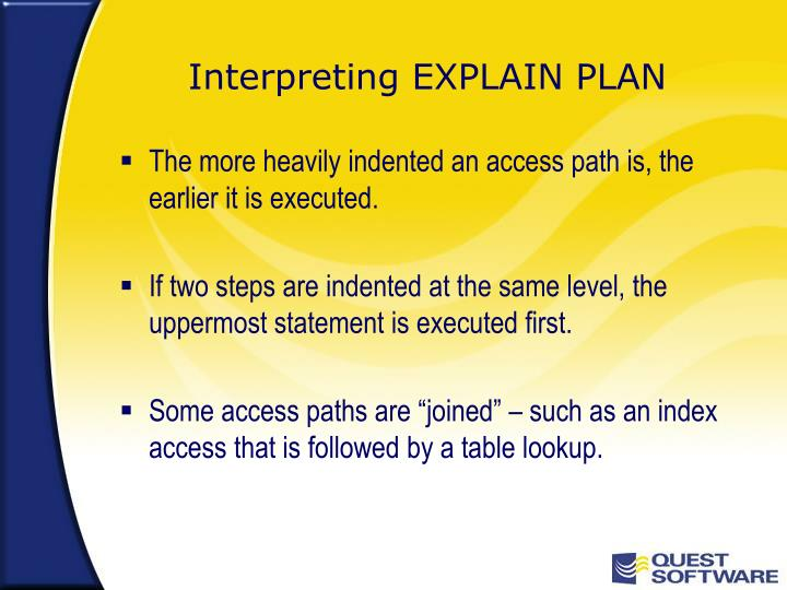 Interpreting EXPLAIN PLAN