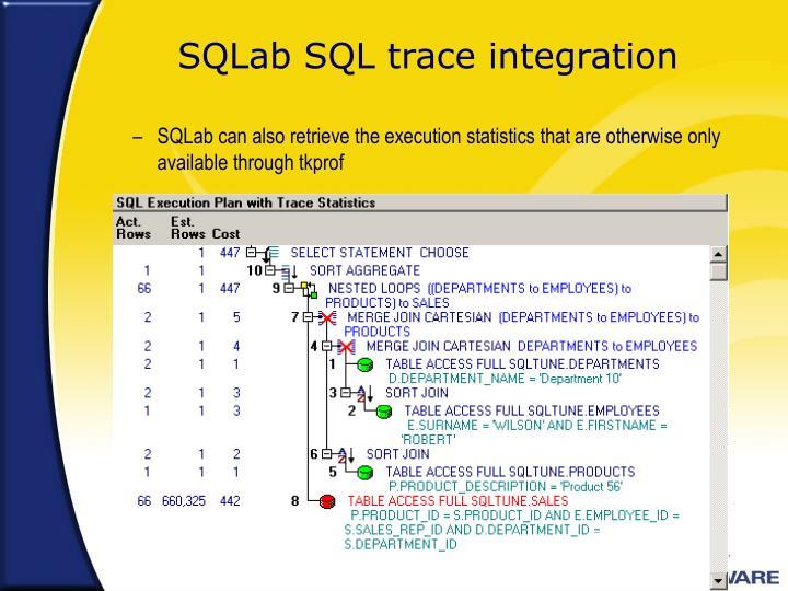 SQLab SQL trace integration