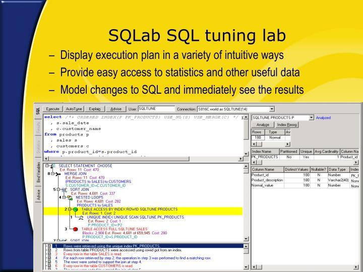 SQLab SQL tuning lab