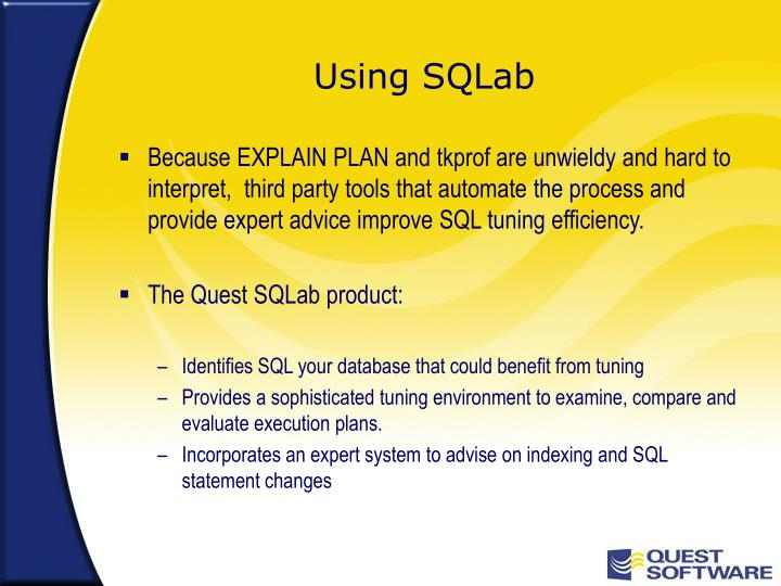 Using SQLab