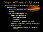 dangers of nuclear proliferation91