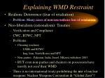 explaining wmd restraint79