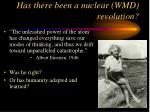 has there been a nuclear wmd revolution