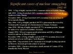 significant cases of nuclear smuggling 1992 95