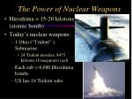 the power of nuclear weapons