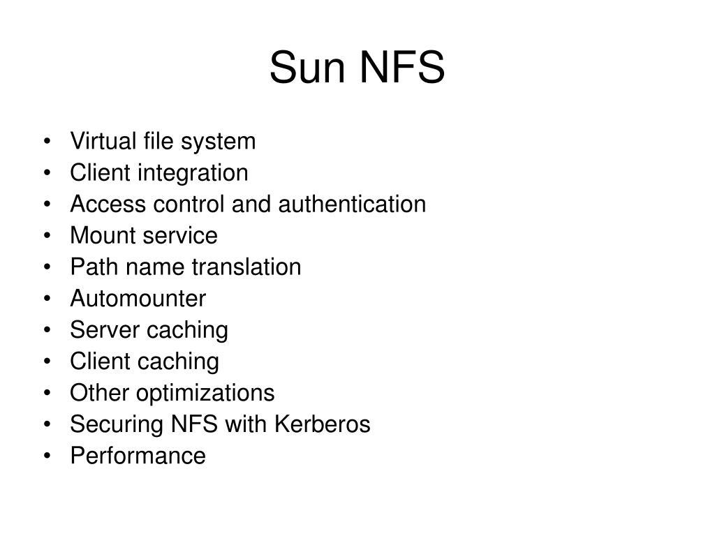 Sun NFS