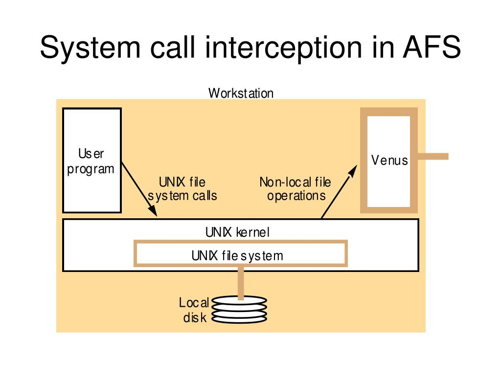 System call interception in AFS