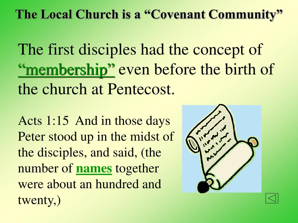 "The Local Church is a ""Covenant Community"""