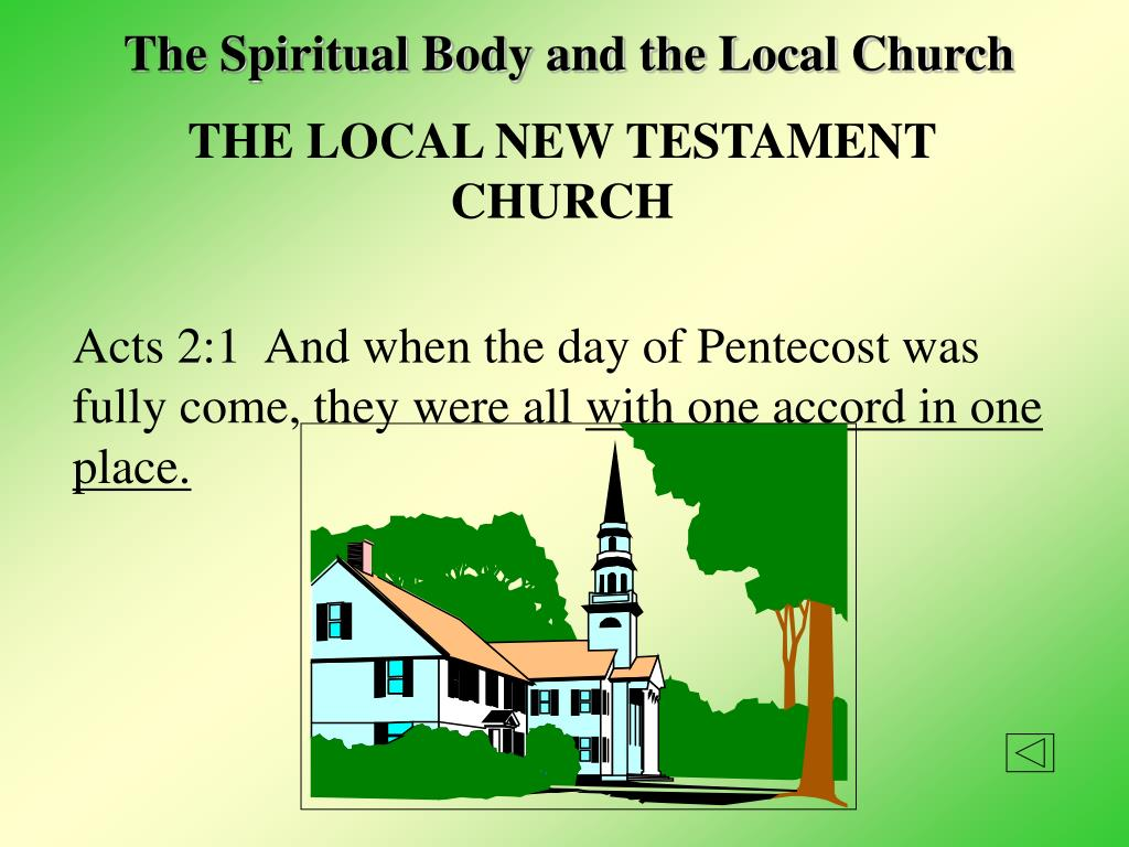 The Spiritual Body and the Local Church