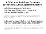 aol s latest anti spam technique controversial but apparently effective
