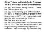 other things to check do to preserve your university s email deliverability