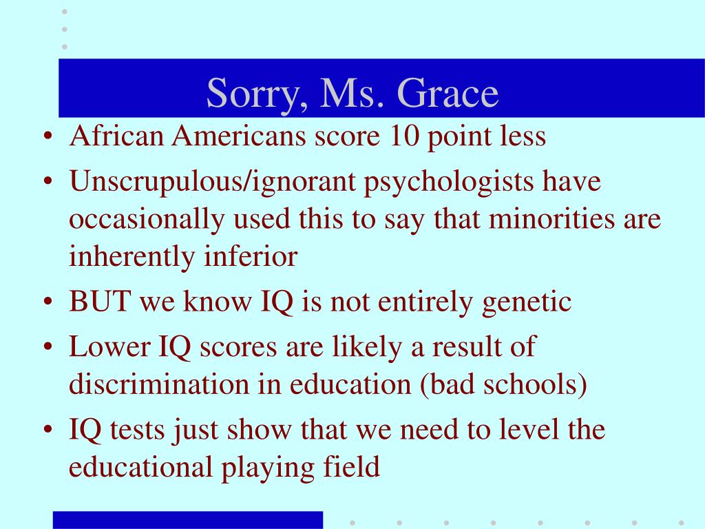 Sorry, Ms. Grace