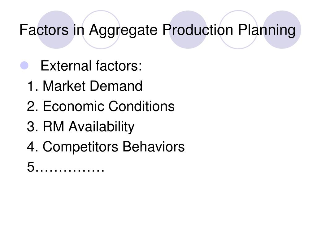 Factors in Aggregate Production Planning