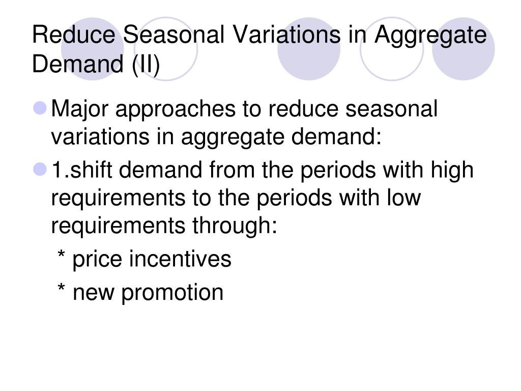 Reduce Seasonal Variations in Aggregate Demand (II)