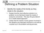 defining a problem situation16