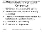 misunderstandings about consensus
