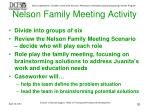 nelson family meeting activity